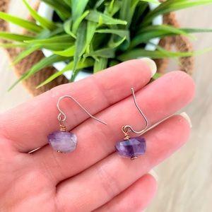 ❌SOLD❌ Purple amethyst Purple stone Earrings
